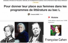 Najat Vallaud-Belkacem s'engage à «donner aux femmes toute leur place» au programme du bac littéraire
