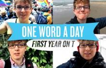 Un jeune homme trans récite un poème de 365 mots composé d'un mot par jour