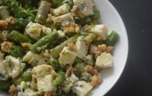 Salade d'asperges au bleu et aux noix—Recette croquante/fondante #SaladeWeek