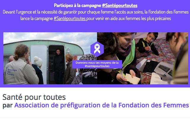La Fondation des Femmes veut la #SantéPourToutes, grâce à vos dons!