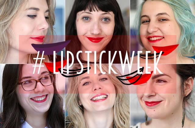Sélection de rouges à lèvres rouges #LipstickWeek