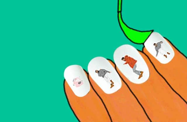 Les autocollants à ongles «Hotline Bling Dancing Drake»—La #OuicheListe