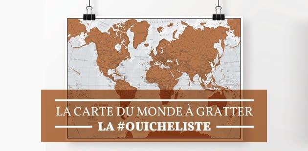 La carte du monde à gratter—La #OuicheListe