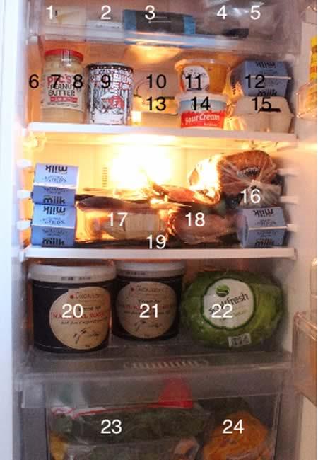 dans le frigo de nouvelle zelande