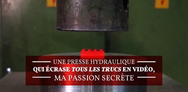 Une presse hydraulique qui écrase TOUS LES TRUCS en vidéo, ma passion secrète