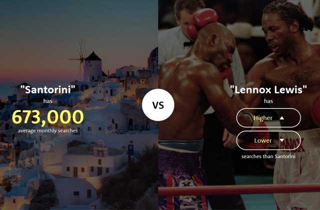«The Higher Lower Game», petit jeu chronophage à base de recherches Google