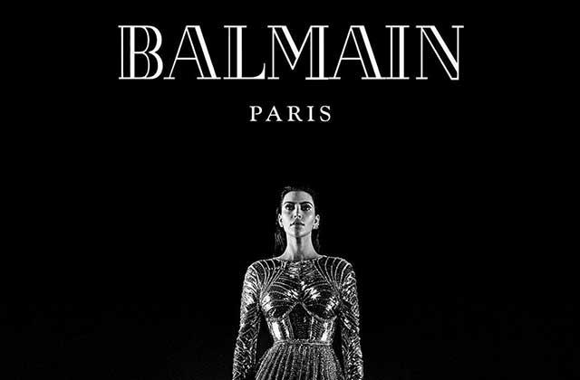Kim Kardashian et Kanye West sont de nouveau les égéries de Balmain!