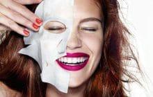 Masques en tissu et bio-cellulose: efficacité et mode d'emploi