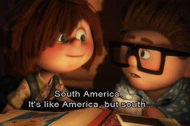 Là haut, l'Amérique du sud, Ellie et Carl