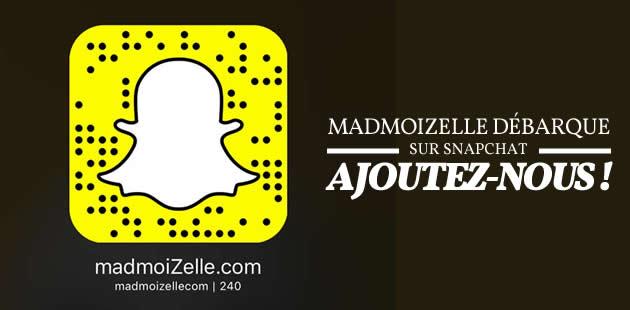 Suivez-nous sur Snapchat : madmoizellecom