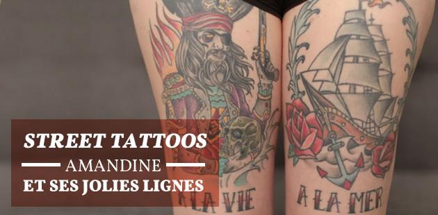 Street Tattoos—Amandine et ses jolies lignes