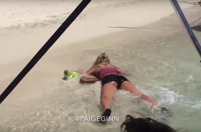 Paige Ginn, l'américaine qui enchaîne les chutes… exprès