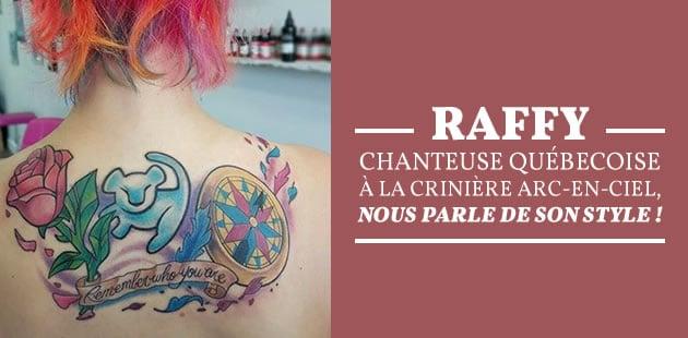 Raffy, chanteuse québécoise à la crinière arc-en-ciel, nous parle de son style!