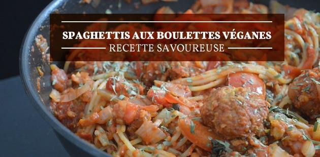 Spaghettis aux boulettes véganes — Recette savoureuse