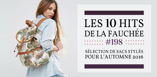 Sélection de sacs stylés pour l'automne 2016 — Les 10 Hits de la Fauchée #198