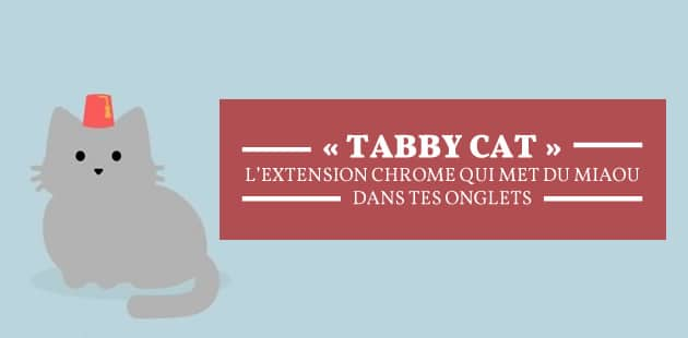 « Tabby Cat », l'extension Chrome qui met du miaou dans tes onglets
