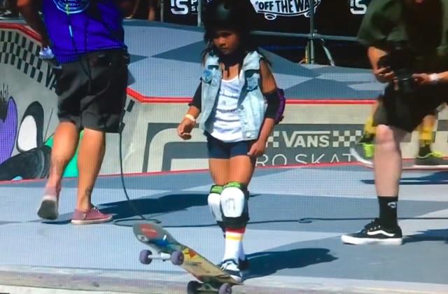 L'impressionnante performance en skate… d'une enfant de huit ans!