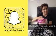 Participe au #DéfiSnapMad «Animal de compagnie» sur le SnapChat madmoizellecom!