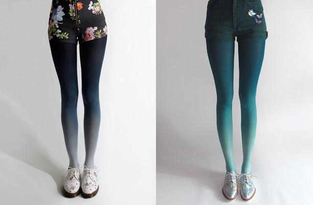 Mettez de la couleur sur vos jambes avec ces collants tie & dye