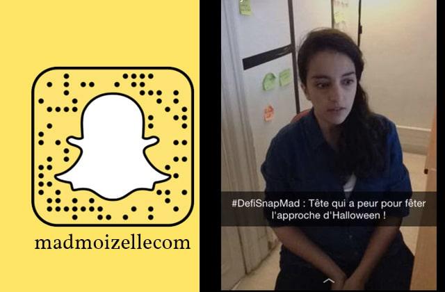Participe au #DéfiSnapMad «Halloween —Tête effrayée » sur le SnapChat madmoizellecom!