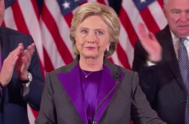 Le discours inspirant et émouvant d'Hillary Clinton après sa défaite face à Trump