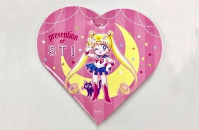 Les préservatifs Sailor Moon pour lutter contre la syphilis (pouvoir lunaire sur ton chibre)