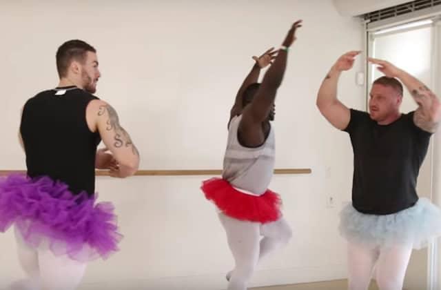 Les bodybuilders qui s'essaient à la danse classique, le plus mignon des désastres