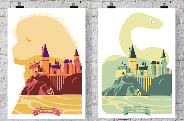 Défends les couleurs de ta maison de Poudlard grâce à ces illustrations de Cy.!