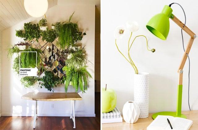 Adopte Greenery, la couleur Pantone 2017 dans ta déco!