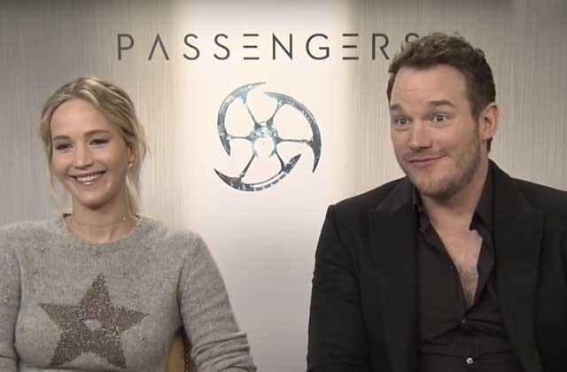 Dans Passengers, Chris Pratt et Jennifer Lawrence sont sur un vaisseau, J-Law tombe à l'eau…