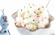 La crème glacée à la neige — WTF culinaire pas vraiment validé par Olaf