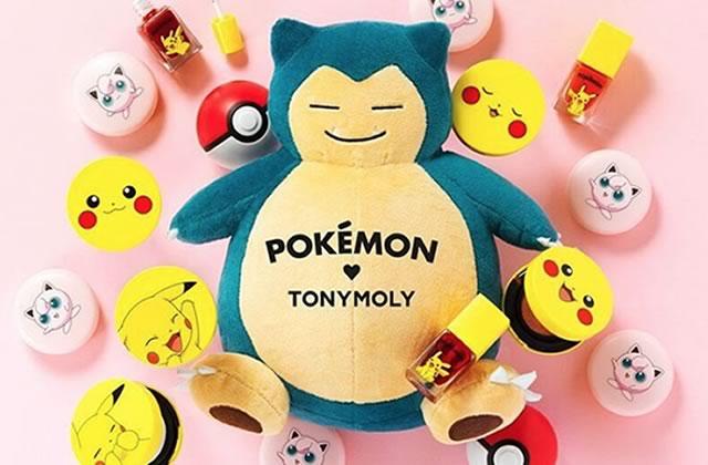 Les produits de maquillage Pokémon de Tony Moly, attrapez-les tous!