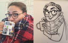 #YourselfVSYourArt met des illustrateurs talentueux face à leur double dessiné