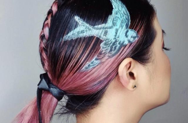 Les pochoirs pour cheveux transforment votre crinière en toile vierge