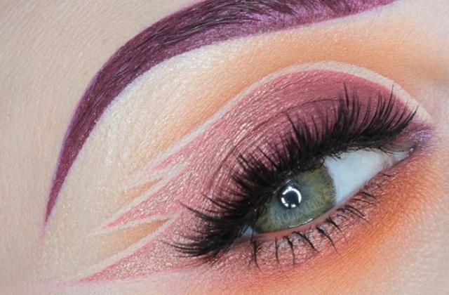 Le maquillage en négatif utilise le vide pour créer des motifs (et c'est très joli)