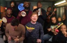 Ed Sheeran reprend Shape of You avec Jimmy Fallon et des maracas banane