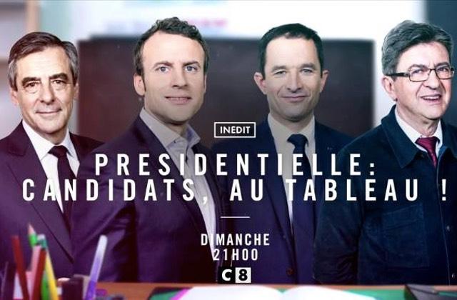 Les candidats à l'élection présidentielle passent #AuTableau devant les enfants [spéciale Macron]