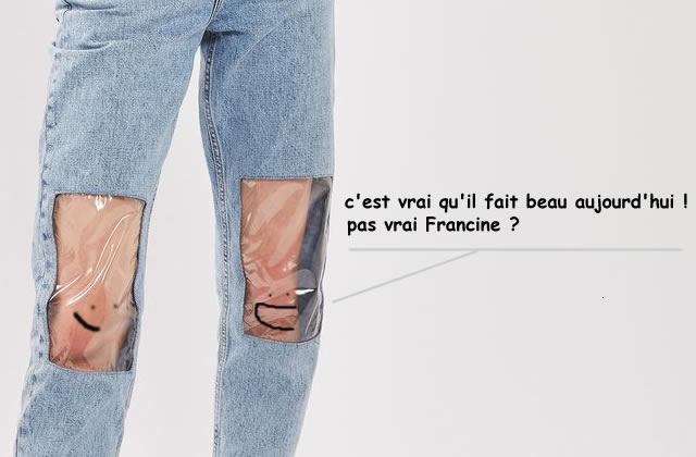 Pour ou contre le jean avec des fenêtres sur les genoux?