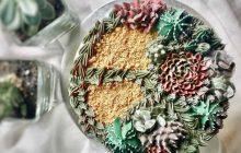 Les succulentes s'invitent sur de jolis gâteaux (et tout est comestible!)