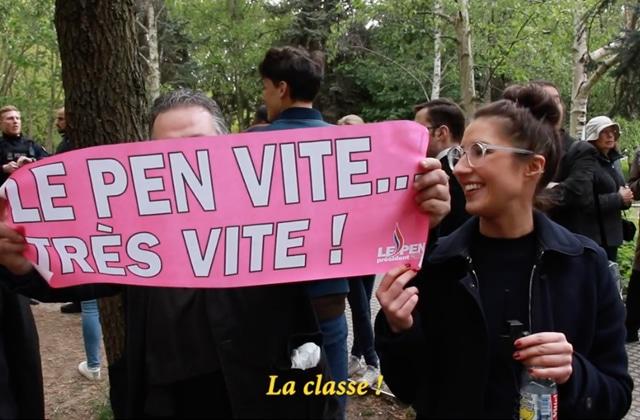 Marie S'Infiltre au meeting de Marine Le Pen et on rit beaucoup (mais jaune)
