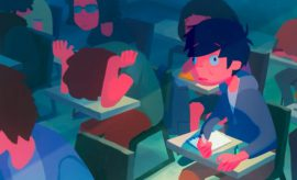 L'horrible envie de dormir en cours parfaitement illustrée en animation
