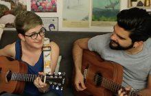 Emma Oscar interprète « Sur sa peau», en suspension entre guitares et violoncelle