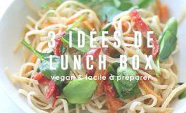 Alice Esmeralda vous propose trois lunchbox vegan faciles pour vos pauses déjeuner!