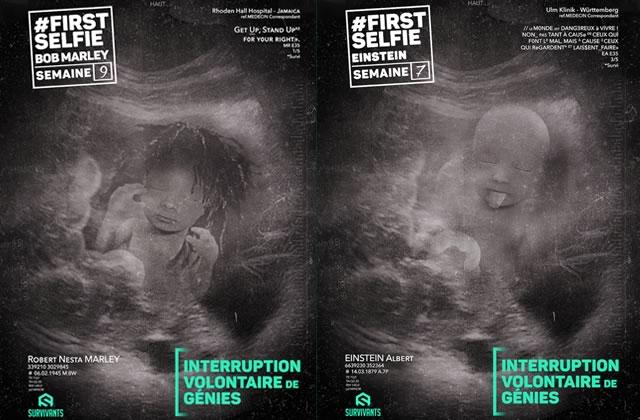 Les Survivants continuent leur campagne anti-IVG illégalement affichée dans Paris