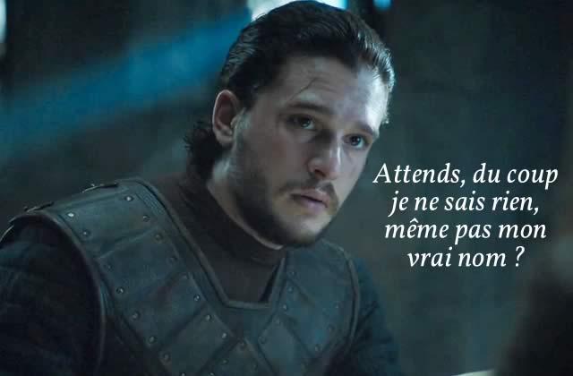 Connaîtrait-on enfin le vrai nom de Jon Snow?
