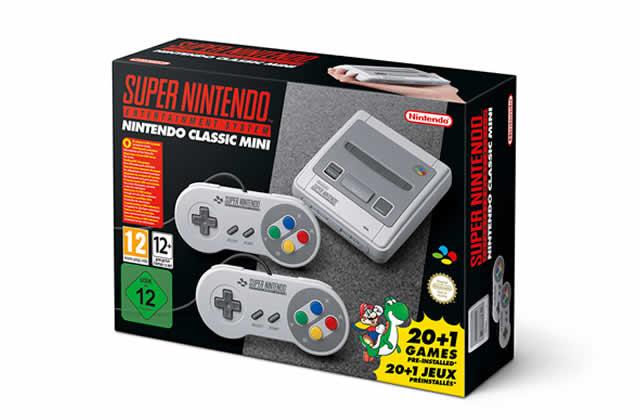 La Super Nintendo, console légendaire, arrive en version mini!