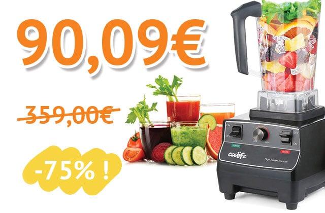 Un mixeur-blender pour tes jus et smoothies à 90€ au lieu de 359€!