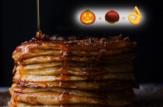 Recette de pancakes au potimarron, noix de pécan et épices d'automne
