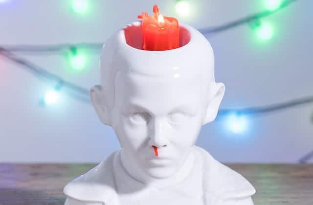 La bougie Eleven (Stranger Things) qui saigne du nez, mi-cool mi-creepy