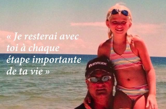 Un père décédé a fait livrer un beau message à sa fille de 21 ans